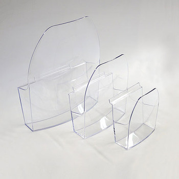 Magnuson Dacapo Brochure Holder - Acrylic Pockets Sizes - Left to Right: A4, A5, A6