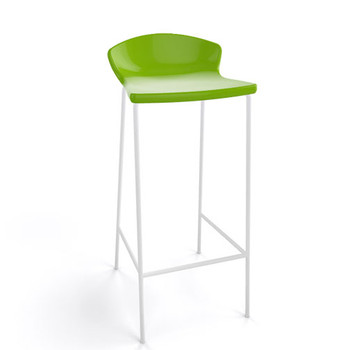 Magnuson Calma Green Stacking Bar Stool - Outdoor
