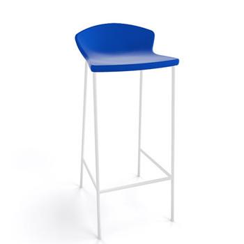 Magnuson Calma SO Blue Stacking Bar Stool - Outdoor - Carton of 4