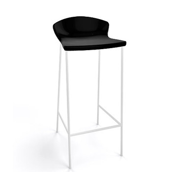Magnuson Calma Black Stacking Bar Stool - Outdoor