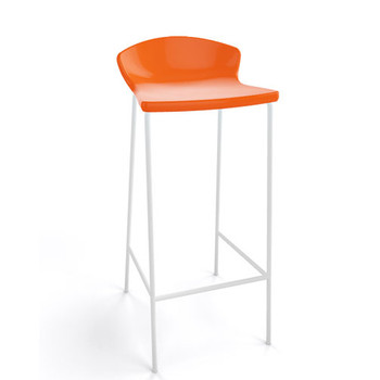 Magnuson Calma SO Orange Stacking Bar Stool