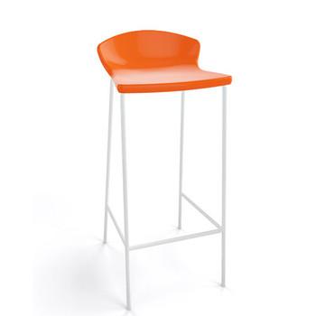 Magnuson Calma SO Orange Stacking Bar Stool