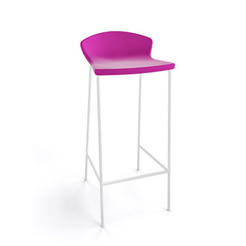 Magnuson Calma SO Pink Stacking Bar Stool