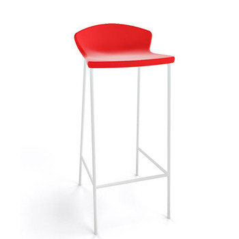 Magnuson Calma SO Red Stacking Bar Stool