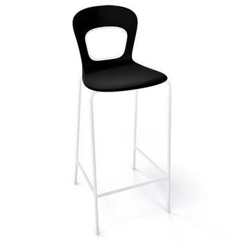 Magnuson Rivista Black Stacking Bar Stool - Outdoor