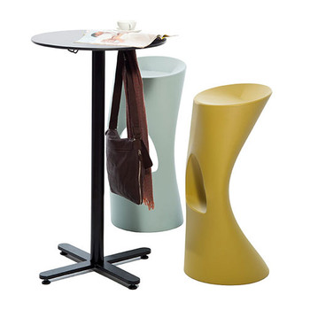 Magnuson OXI-40 Oxi Bistrot Bar Table Shown with Magnuson FLOD Stools