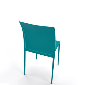 Magnuson Lucido Teal Stacking Chair - Back