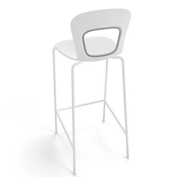 Magnuson Rivista White Stacking Bar Stool - Outdoor - Back View