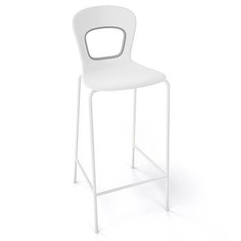 Magnuson Rivista White Stacking Bar Stool - Outdoor