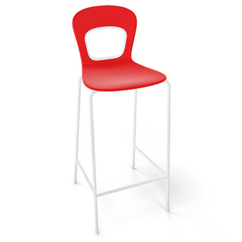 Magnuson Rivista SO Red Stacking Bar Stool - Outdoor