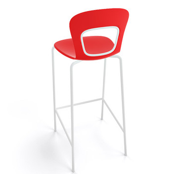 Magnuson Rivista SO Red Stacking Bar Stool - Outdoor - Back View