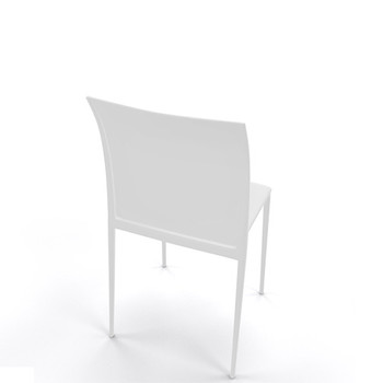 Magnuson Lucido White Stacking Chair - Back