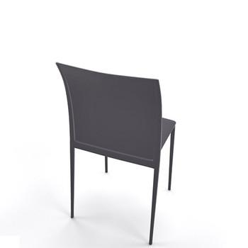 Magnuson Lucido Dark Grey Outdoor Stacking Chair - Back