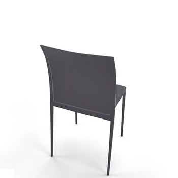 Magnuson Lucido Dark Grey Outdoor Stacking Chair - Back