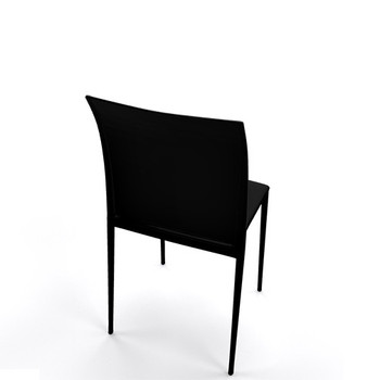 Magnuson Lucido SO Black Stacking Chair - Back