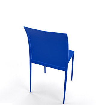 Magnuson Lucido SO Dark Blue Stacking Chair - Back