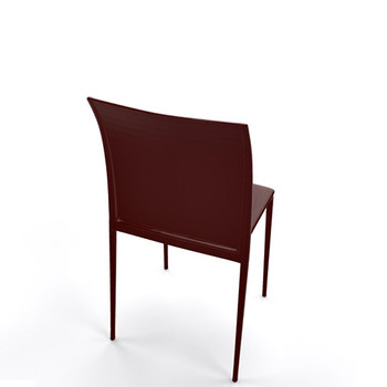 Magnuson Lucido SO Dark Brown Stacking Chair - Back