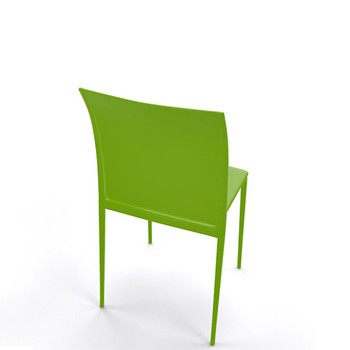 Magnuson Lucido SO Green Stacking Chair - Back