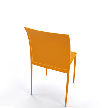 Magnuson Lucido SO Mustard Stacking Chair - Back