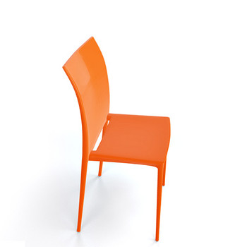 Magnuson Lucido SO Orange Stacking Chair - Side View