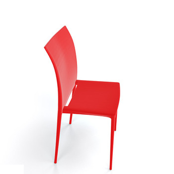Magnuson Lucido SO Red Stacking Chair - Side View