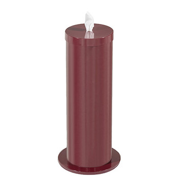 Glaro Antibacterial Wipe Dispenser F1027BY - Floor Standing with Wipe Storage - Finished In Burgandy
