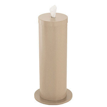 Glaro Antibacterial Wipe Dispenser F1027DS - Floor Standing with Wipe Storage - Finished in Desert Stone