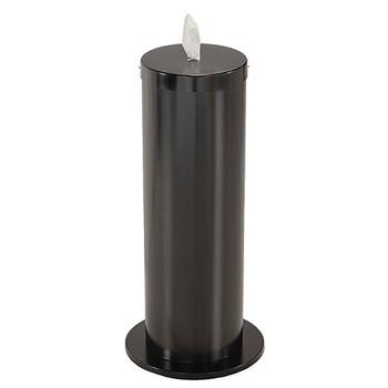 Glaro Antibacterial Wipe Dispenser F1027BK - Floor Standing with Wipe Storage - Finished in Satin Black