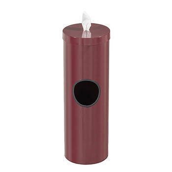 Glaro Antibacterial Wipe Dispenser F1028BY - Floor Standing with Trash Can - No Base - Burgundy