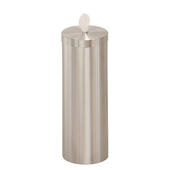 Glaro Antibacterial Wipe Dispenser F1026SA - Floor Standing with Wipe Storage - No Base - Satin Aluminum