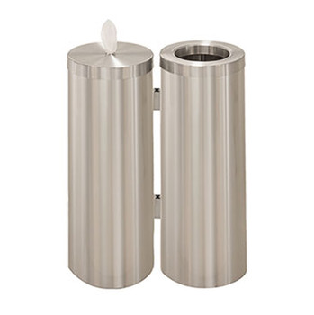 Glaro Antibacterial Wipe Dispenser Station - WD1030SA - Satin Aluminum
