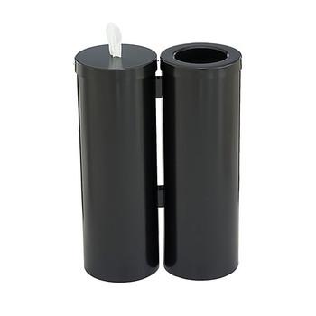 Glaro Antibacterial Wipe Dispenser Station - WD1030BK - Satin Black