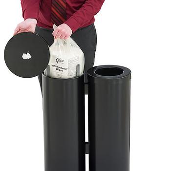 Glaro Antibacterial Wipe Dispenser Station - WD1030BK - Satin Black - Demonstration