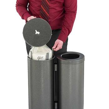 Glaro Antibacterial Wipe Dispenser Station - WD1030SV - Silver Vein - Demonstration