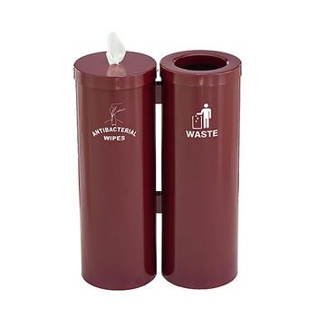 Glaro Antibacterial Wipe Dispenser Station WD1030SBY - Burgundy