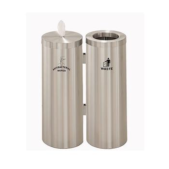 Glaro Antibacterial Wipe Dispenser Station WD1030SSA - Satin Aluminum