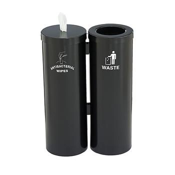 Glaro Antibacterial Wipe Dispenser Station WD1030SBK - Satin Black