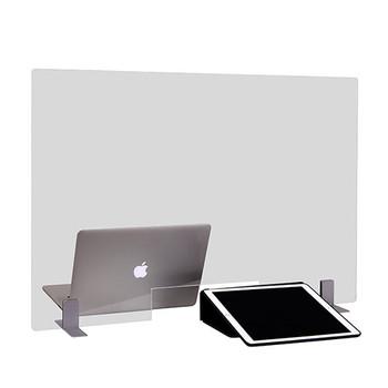 "Peter Pepper Sneeze Guard TTP2424-MP - Desktop - Portable - Acrylic - Metal Base - Pass Through - 24"" x 24"" - In Use"