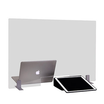 """Peter Pepper Sneeze Guard TTP3624-MP - Desktop - Portable - Acrylic - Metal Base with Pass Through - 36"""" x 24"""" - In Use"""