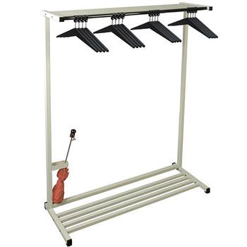 Camden-Boone Floor Standing Coat Rack 110-048 with Optional Boot Rack - Shown in Discontinued Beige