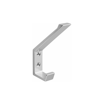 Peter Pepper 2071-AL Coat Hook - Aluminum- Double Prong
