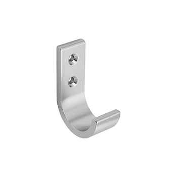 Peter Pepper 2013-AL Coat Hook - Aluminum - Single Prong