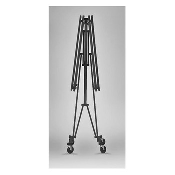 Camden-Boone Folding Rolling Coat Rack with Hanger Rod in Folded Storage Position - 108-001