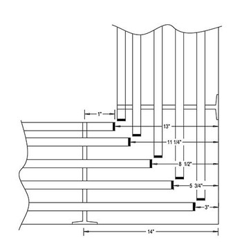 Camden-Boone Mitered Inside Corner Diagram for Coat Racks and Shelves