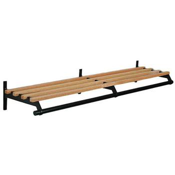 Camden-Boone Unlimited Wall Mount Wooden Coat Rack with Shelf Hanger Rod - 102