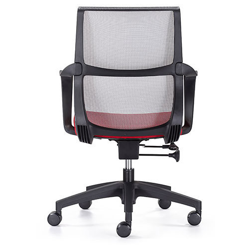 Woodstock Ravi Desk Chair - Red - Mesh Back - Back View