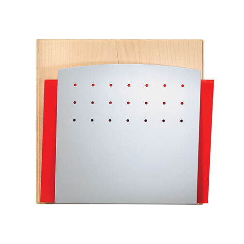 Peter Pepper 4001H-QS Chart Holder with Maple Back and Aluminum Metallic Front