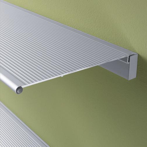 "Peter Pepper SA48 Aluminum Shelf - Envision Collection - Aluminum - Wall Mount - 8-1/4"" Deep - 48 "" Long"