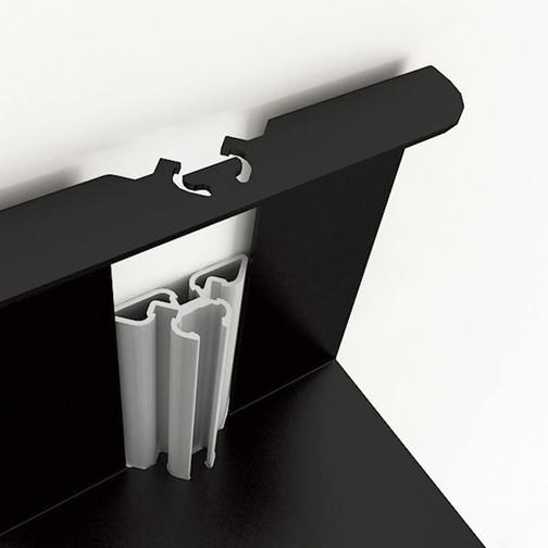 Magnuson Usio Vertical Book Shelf Detail Showing Column and Shelf Lock Design