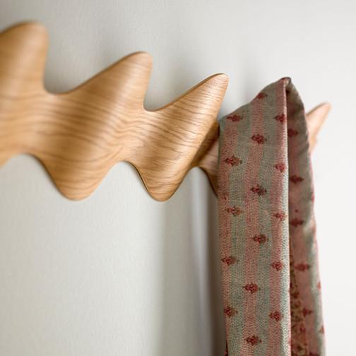 Magnuson Ona Coat Rack Detail using Oak Finish